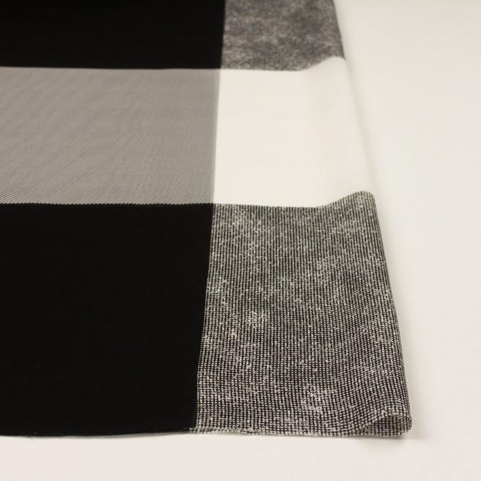キュプラ×スクエア(アイボリー&ブラック)×ジョーゼット イメージ3
