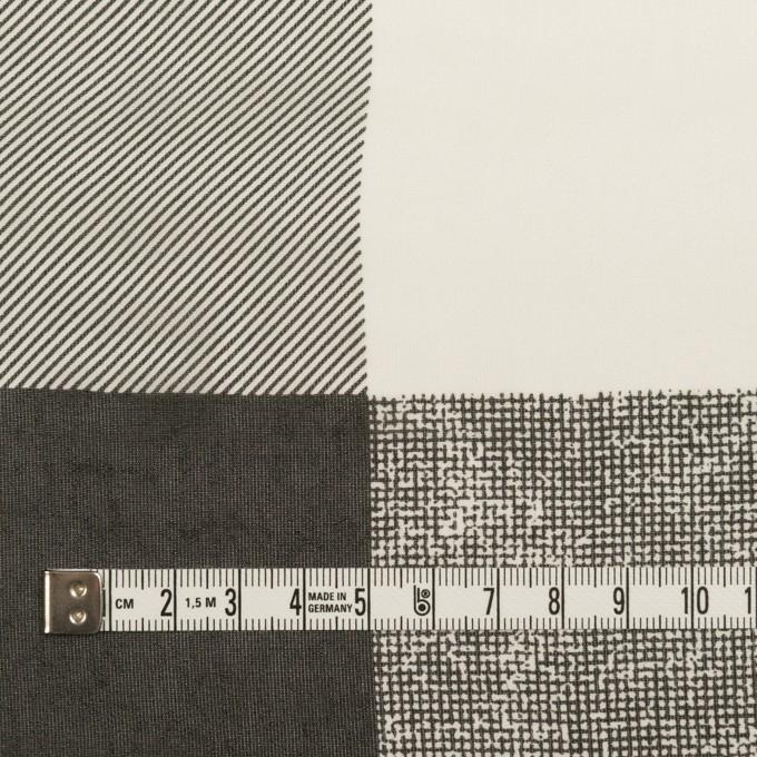 キュプラ×スクエア(アイボリー&ブラック)×ジョーゼット イメージ4