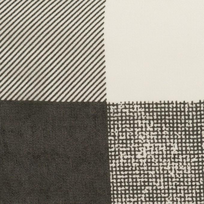 キュプラ×スクエア(アイボリー&ブラック)×ジョーゼット イメージ1