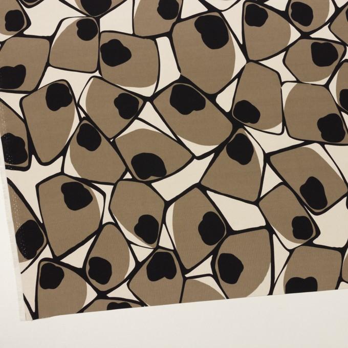ポリエステル×ペイント(ベージュグレー&ブラック)×ローン イメージ2