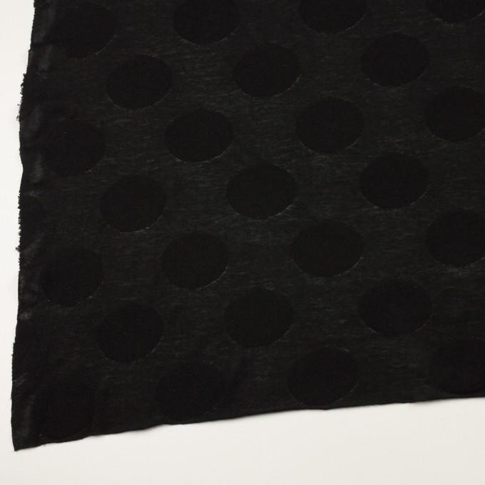 コットン&レーヨン混×オーバル(ブラック)×ジャガードニット イメージ2