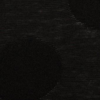 コットン&レーヨン混×オーバル(ブラック)×ジャガードニット