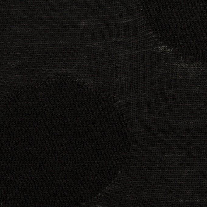 コットン&レーヨン混×オーバル(ブラック)×ジャガードニット イメージ1