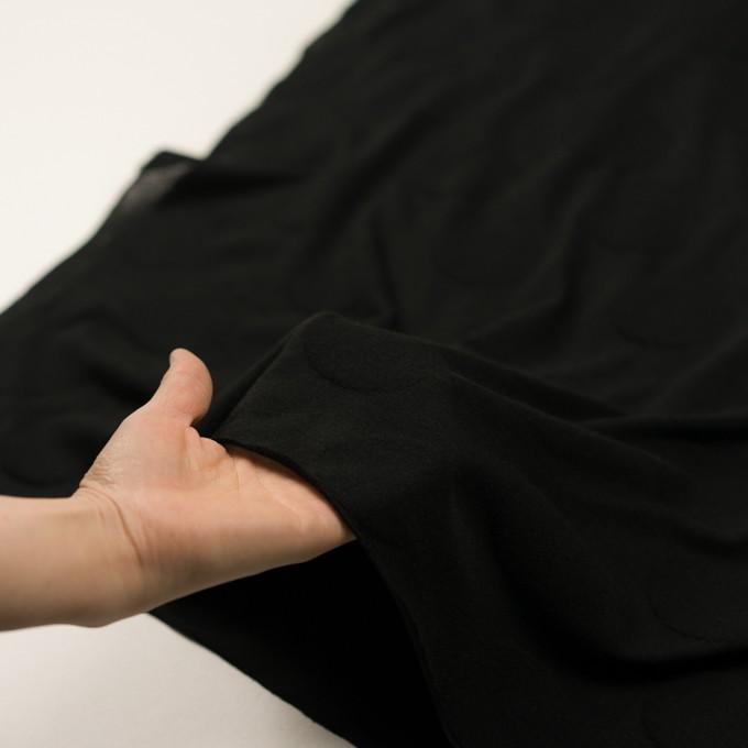 コットン&レーヨン混×オーバル(ブラック)×ジャガードニット イメージ5