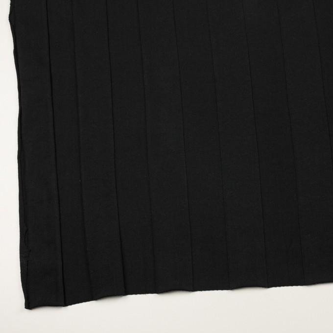 コットン×ストライプ(ブラック)×ジャガードニット イメージ2