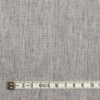 コットン&リネン×ストライプ(ミルク&ネイビー)×薄キャンバス サムネイル4