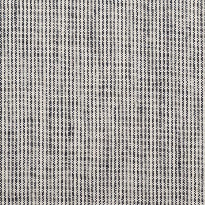 コットン&リネン×ストライプ(ミルク&ネイビー)×薄キャンバス イメージ1