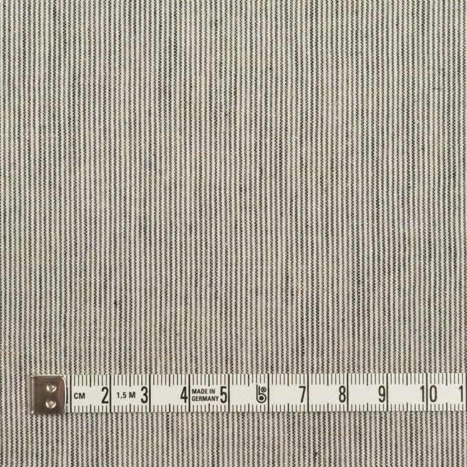 コットン&リネン×ストライプ(アイボリー&ブラック)×シーチング イメージ4