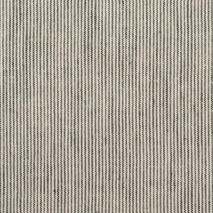 コットン&リネン×ストライプ(アイボリー&ブラック)×シーチング イメージ1