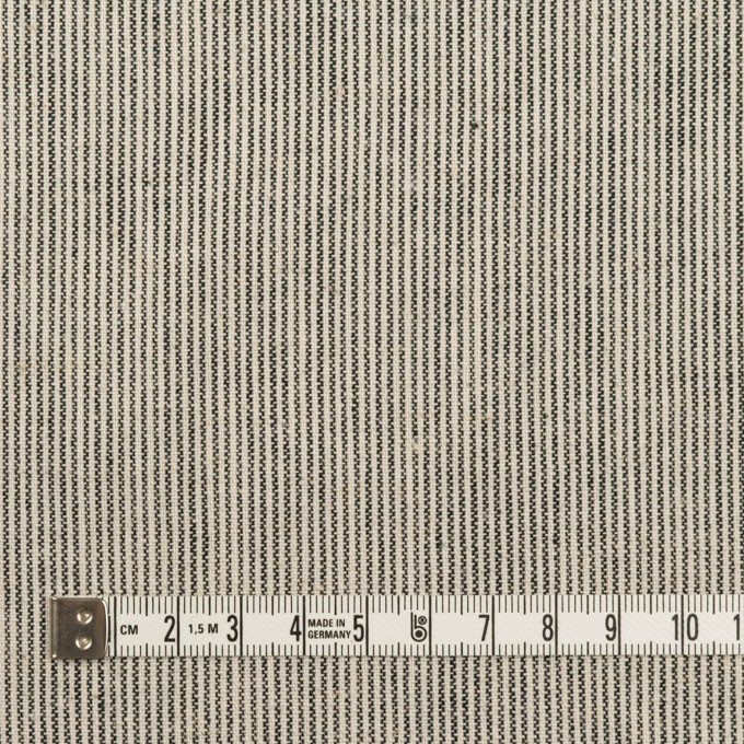 コットン×ストライプ(エクリュ&ブラック)×シーチング イメージ4