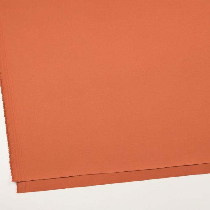 コットン&ポリウレタン×無地(コーラルオレンジ)×チノクロス・ストレッチ イメージ2