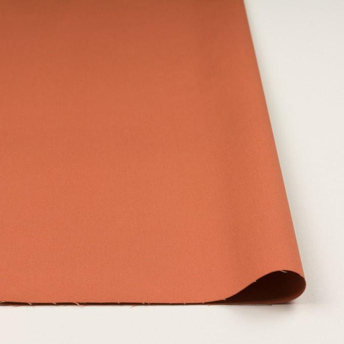 コットン&ポリウレタン×無地(コーラルオレンジ)×チノクロス・ストレッチ イメージ3