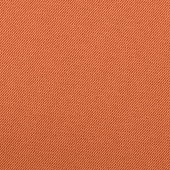 コットン&ポリウレタン×無地(コーラルオレンジ)×チノクロス・ストレッチ イメージ1