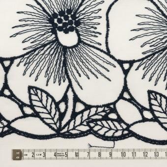 コットン×フラワー(ホワイト&ネイビー)×ピケ刺繍 サムネイル6