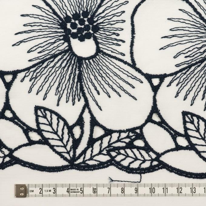 コットン×フラワー(ホワイト&ネイビー)×ピケ刺繍 イメージ6