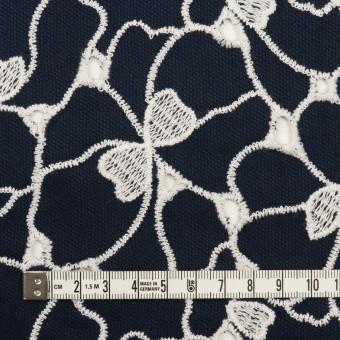 コットン×フラワー(ネイビー&ホワイト)×ピケ刺繍 サムネイル4