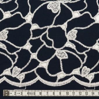 コットン×フラワー(ネイビー&ホワイト)×ピケ刺繍 サムネイル6