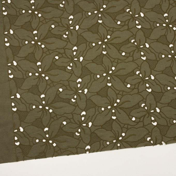 コットン×フラワー(カーキグリーン)×ローン刺繍_全2色 イメージ2