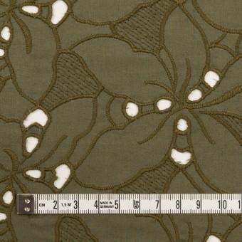 コットン×フラワー(カーキグリーン)×ローン刺繍_全2色 サムネイル4