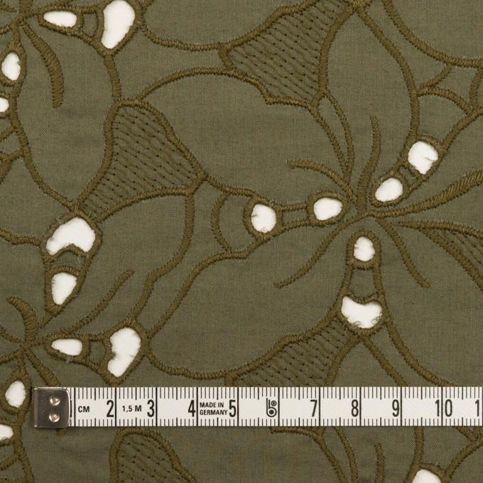 コットン×フラワー(カーキグリーン)×ローン刺繍_全2色 イメージ4