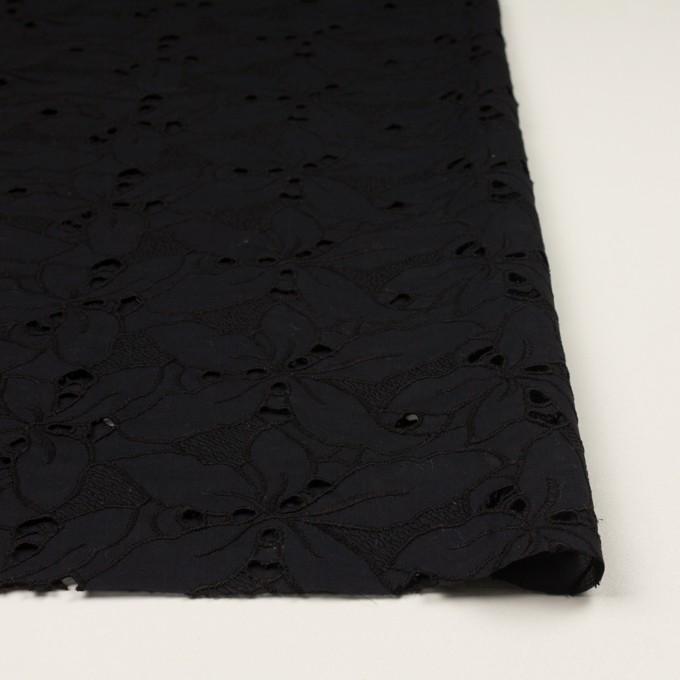 コットン×フラワー(ブラック)×ローン刺繍_全2色 イメージ3
