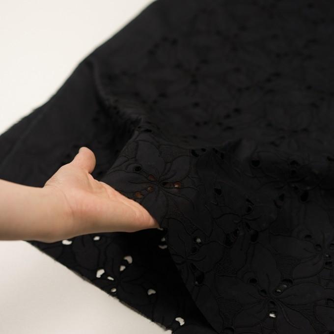 コットン×フラワー(ブラック)×ローン刺繍_全2色 イメージ5