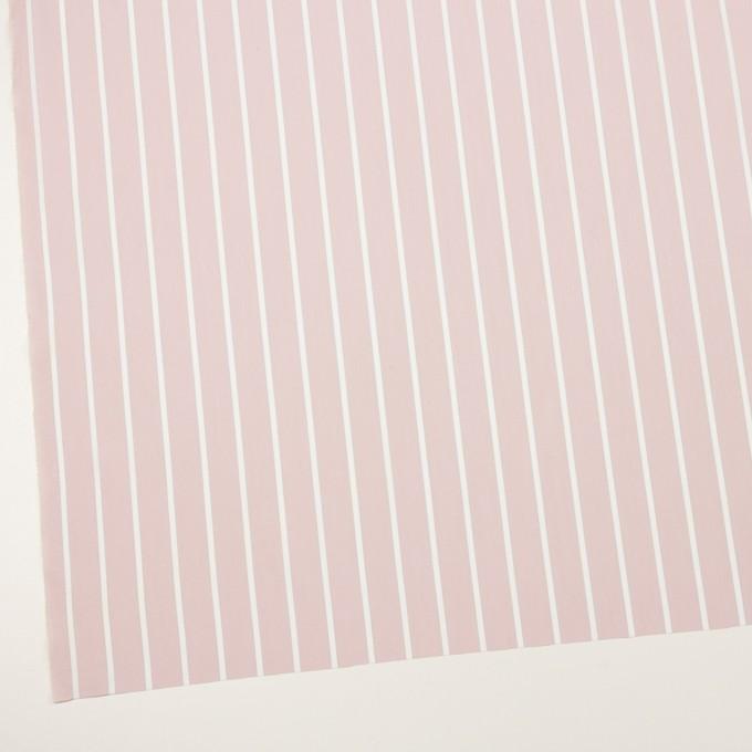 コットン&ポリエステル×ストライプ(ピンクベージュ)×ローン イメージ2