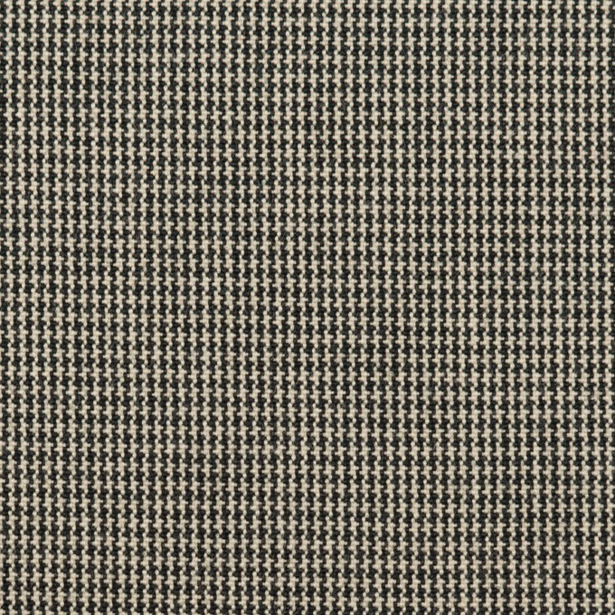 コットン×千鳥格子(エクリュ&ブラック)×キャンバス イメージ1
