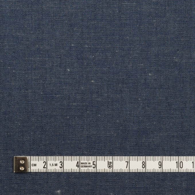 コットン&リネン×無地(インディゴブルー)×セルビッジ・ダンガリー イメージ4