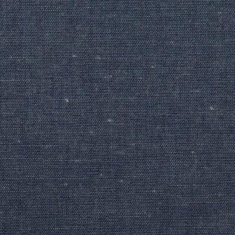 コットン&リネン×無地(インディゴブルー)×セルビッジ・ダンガリー