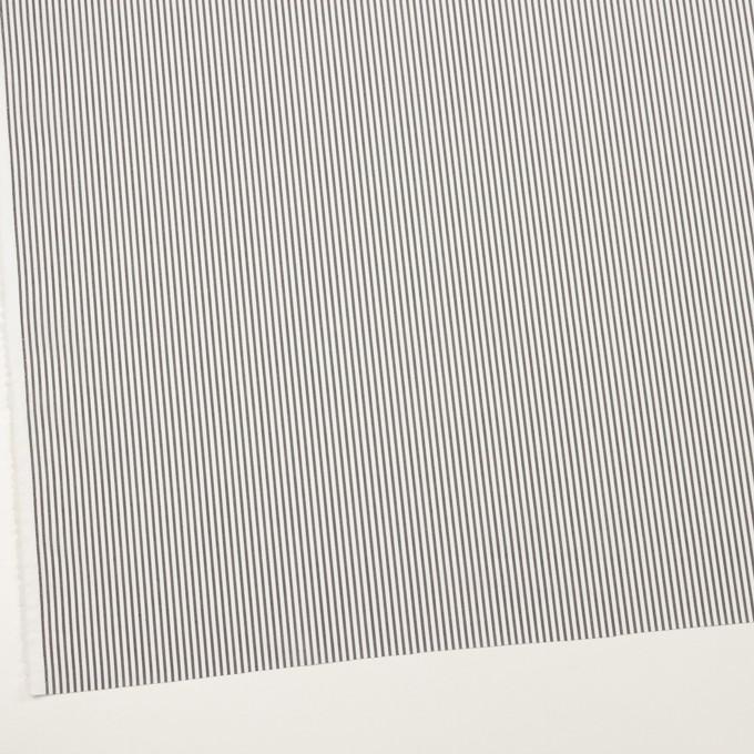 コットン&ポリエステル×ストライプ(チャコール)×ローン イメージ2
