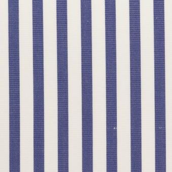 コットン×ストライプ(ブルー)×ブロード_全2色