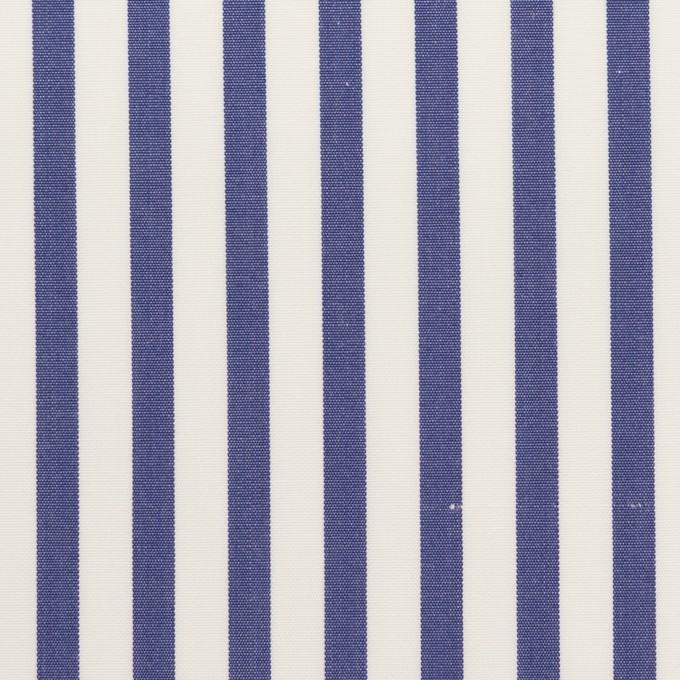 コットン×ストライプ(ブルー)×ブロード_全2色 イメージ1