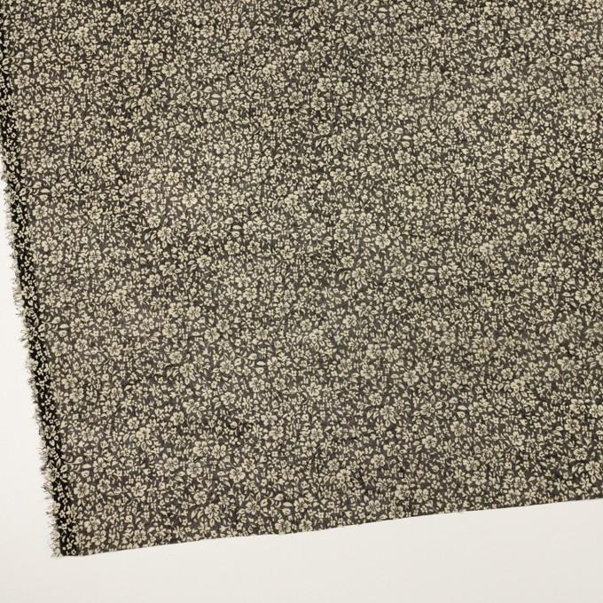 ポリエステル×フラワー(ブラック&ライトベージュ)×ボイル イメージ2