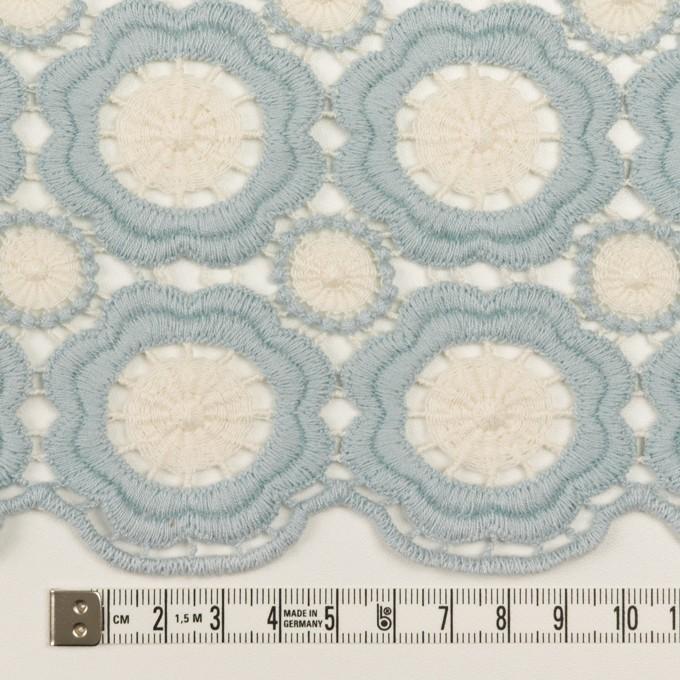 コットン×フラワー(ペールブルー&エクリュ)×ケミカルレース イメージ6