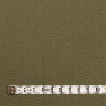 コットン×無地(カーキグリーン)×ヘリンボーン サムネイル4