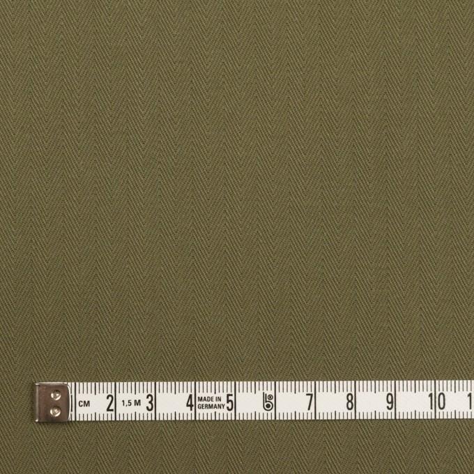 コットン×無地(カーキグリーン)×ヘリンボーン イメージ4