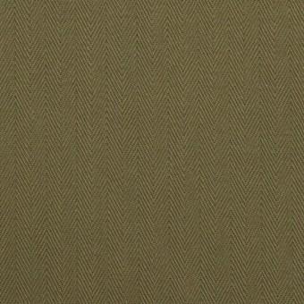 コットン×無地(カーキグリーン)×ヘリンボーン