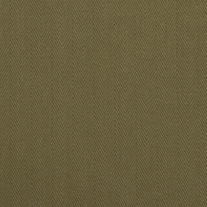 コットン×無地(カーキグリーン)×ヘリンボーン イメージ1