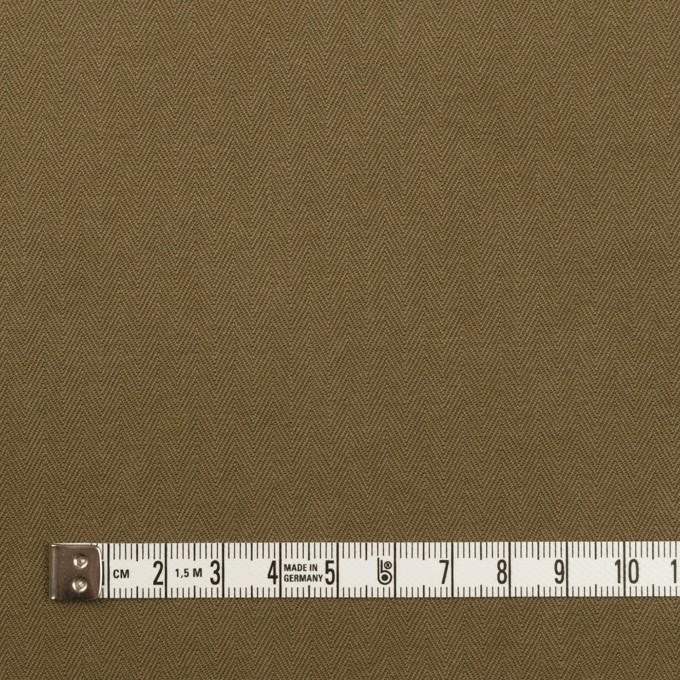 コットン×無地(カーキ)×ヘリンボーン イメージ4
