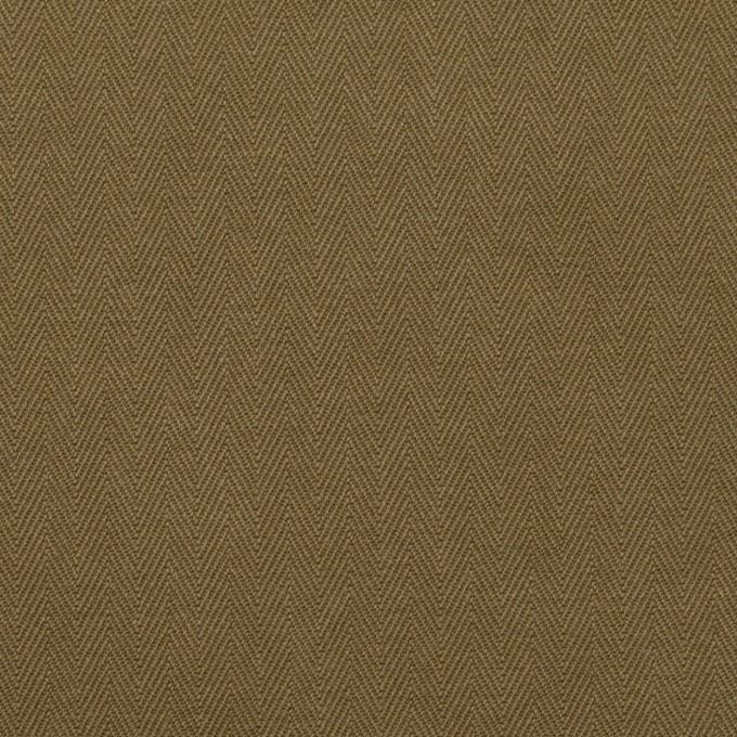 コットン×無地(カーキ)×ヘリンボーン イメージ1