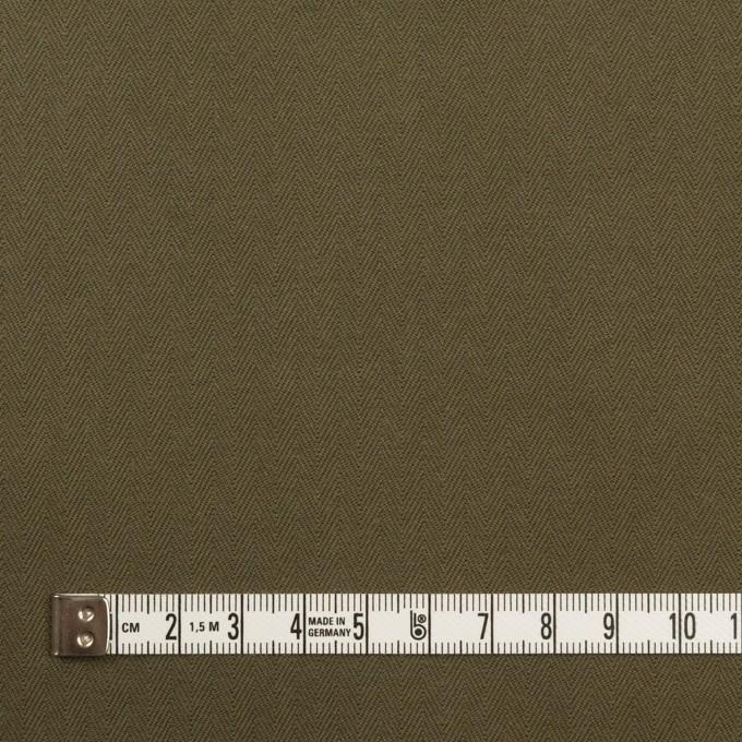 コットン×無地(ダークカーキ)×ヘリンボーン イメージ4