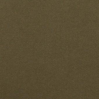 コットン×無地(ダークカーキ)×ヘリンボーン サムネイル1