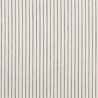 コットン×ストライプ(バニラ&ネイビー)×サテン