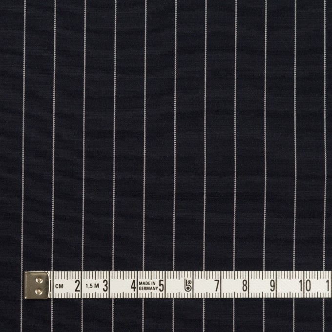 コットン×ストライプ(ダークネイビー)×ブロード イメージ4