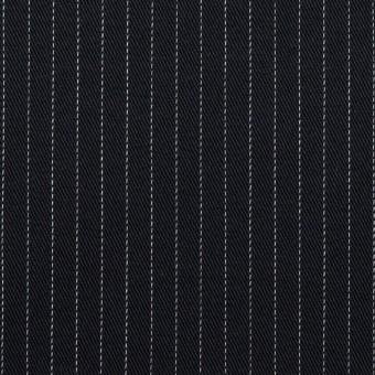 コットン&ポリエステル混×ストライプ(ダークネイビー)×チノクロス・ストレッチ