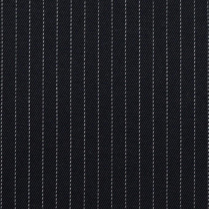 コットン&ポリエステル混×ストライプ(ダークネイビー)×チノクロス・ストレッチ イメージ1