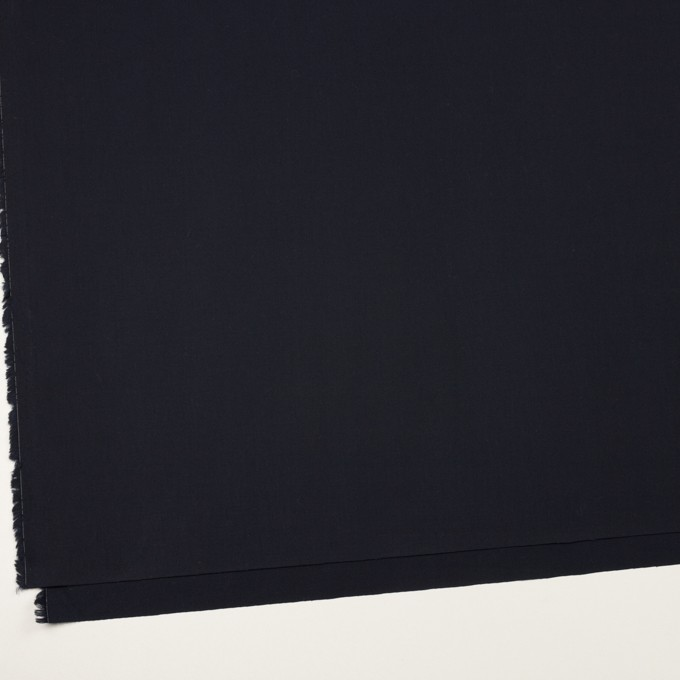 コットン×無地(ダークネイビー)×サージ_イタリア製 イメージ2