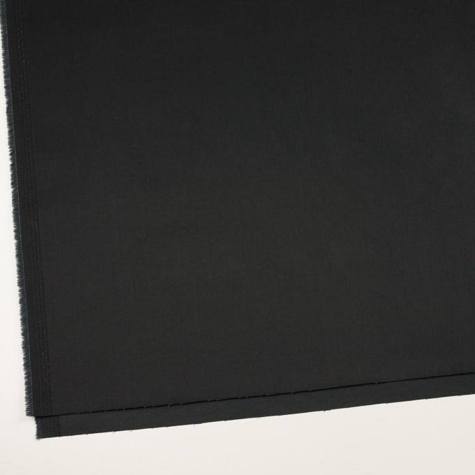 コットン&ポリエステル×無地(ブラック)×サテンストレッチ イメージ2