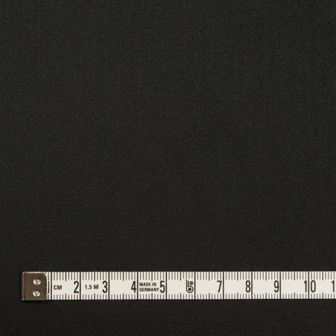 コットン&ポリエステル×無地(ブラック)×サテンストレッチ イメージ4